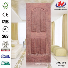 JHK-004 Gran panel de 4 paneles de bajo precio E1 HDF Bubinga Hoja de puerta moldeada