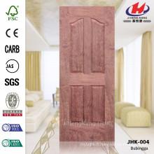 JHK-004 Great 4 Panel Low Price E1 HDF Bubinga Feuille de porte moulée