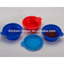 Venta al por mayor precio de fábrica plegable alimentos de grado de alimentos de silicona novedad Pet Bowls / Dog Feeder Bowl / plegable Pet Dog Cat Bowl