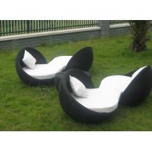 Outdoor Rattan Bed Beach Lounge Design Modern