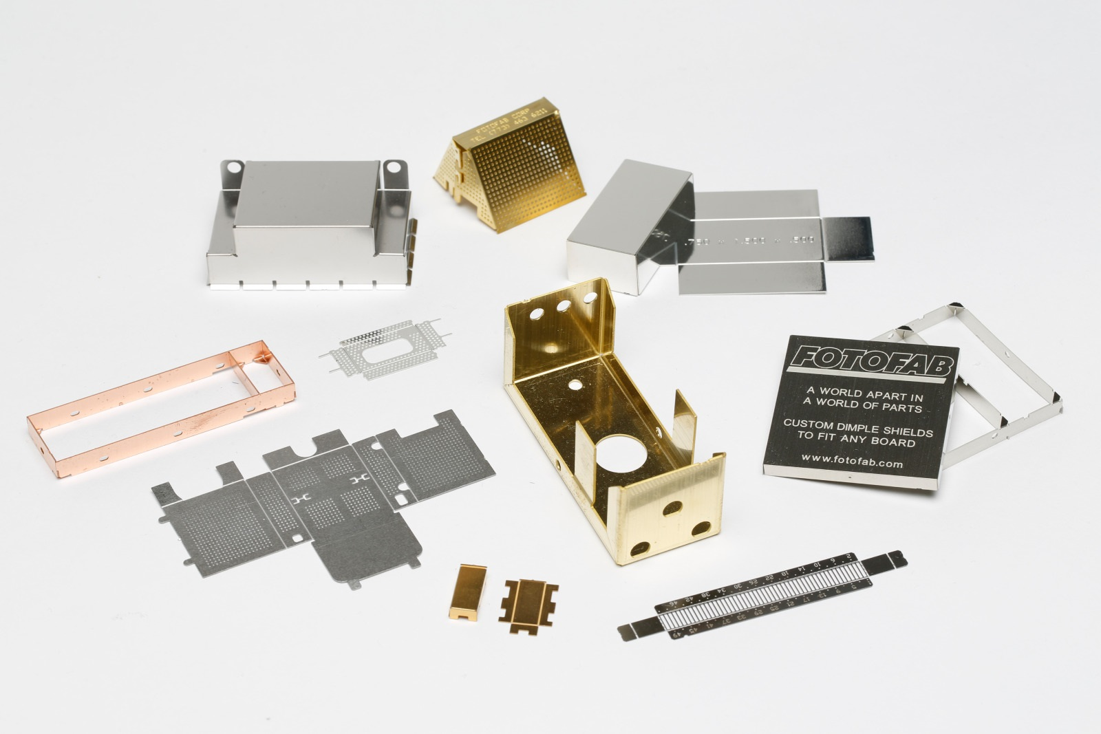 EMI shielding metal box