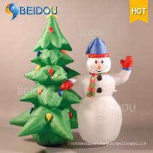Human Snow Globe Christmas Ornaments Snowman Tree Inflatable Christmas Decorations