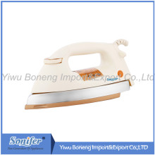 CB Approved Ab-25 Electric Iron Heavy Duty Dry Iron 1000W Golden/Gray/Silvery Soleplate