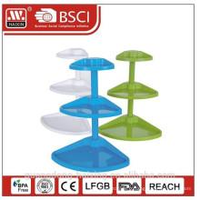 Support de coin de rangement en plastique intérieure / housewares stockage/plastique de stockage/plastique