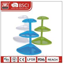Plastic storage corner rack/ indoor storage/plastic storage/plastic housewares