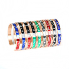 Cuff 316L Stainless Steel Dial Plate Official Speedometer Bangle Bracelet