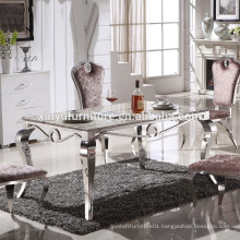 2016 New design stainless steel chair with table set for dining room XYN2811