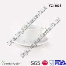 Set de café expreso blanco cerámico