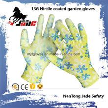 13G Nitrile Smooth Coated Garden Glove