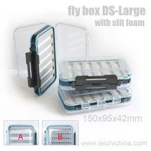 Slit Foam Waterproof Grande boîte de pêche à la mouche en gros