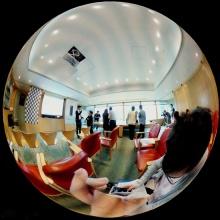 Objectif CCTV panoramique pour la surveillance complète de la vue