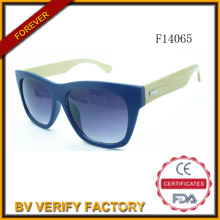 F14065 New Customed Sunglass with Bamboo Arms