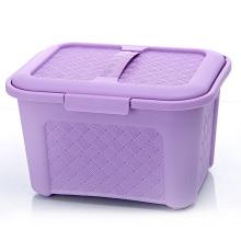 Weave Design Plastic Storage Box with Handle (SLSN006)