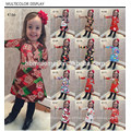 Roupas de bebê de Natal manga longa flor bonita vestido colorido meninas crianças