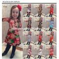 Рождество Ребенок Одежда С Длинным Рукавом Прекрасный Цветок Красочные Платья Девушки Дети