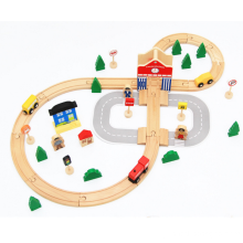 Wooden 50 piezas Thomas Train Tracks Toys