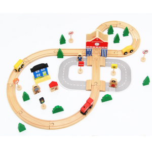 En bois 50 pcs Thomas Train Tracks Jouets