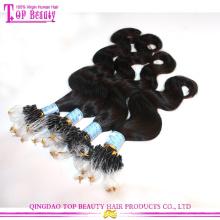 Top-Qualität unbearbeitet brasilianische Körper Welle Erweiterungen 100 % natives Mikroringe Schleife welliges Haar Haarverlängerungen