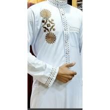 Мужская осенняя повседневная мусульманская одежда с длинным рукавом Thobe