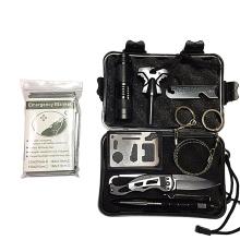 Emergency survival kit 11 in 1 sos wilderness military survival kit