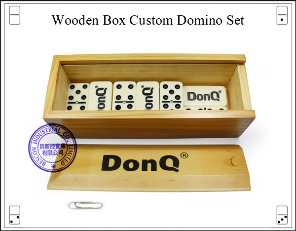 Wooden Box Custom Domino Set
