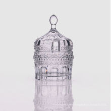 Small Glass Candy Jar with Glass Lid
