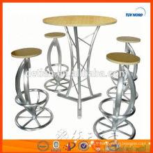 Table ronde de barre de Tableau de barre de forces de défense principale et de tube en aluminium pour des meubles de barre