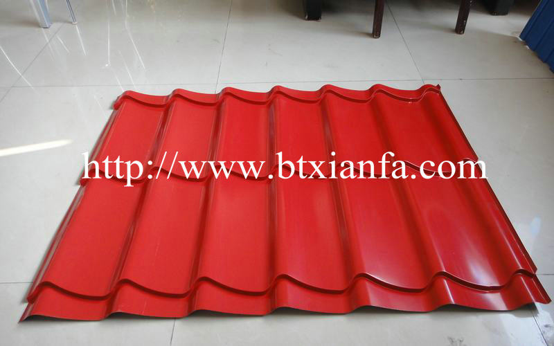 Tiles roof making machine