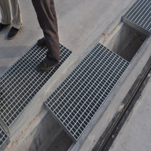 Perlindungan Trench Steel Grating Heavy Duty