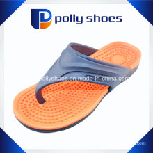 Gray Red Slip-on Flip Flop Thong Sandals Men′s Sz 12