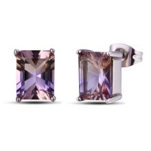 Luxury Fashion Jewelry Amethyst Crystal Earrings