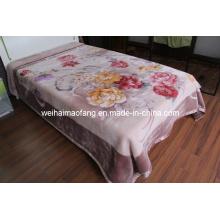 Raschel Printing Mink Polyester Blanket (MQ-LAPB001)