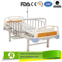 2 функций Ручная Больничная койка нержавеющей стали для больной комнаты