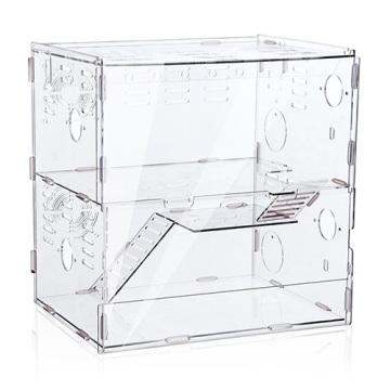 2 Tiers Luxury Acrylic Cajas hechas a mano de la jaula del hámster