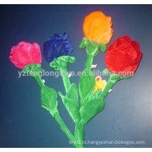 Плюшевые розы цветок игрушка для подруги