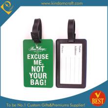 Étiquette de bagage en PVC souple imprimé couleur personnalisée