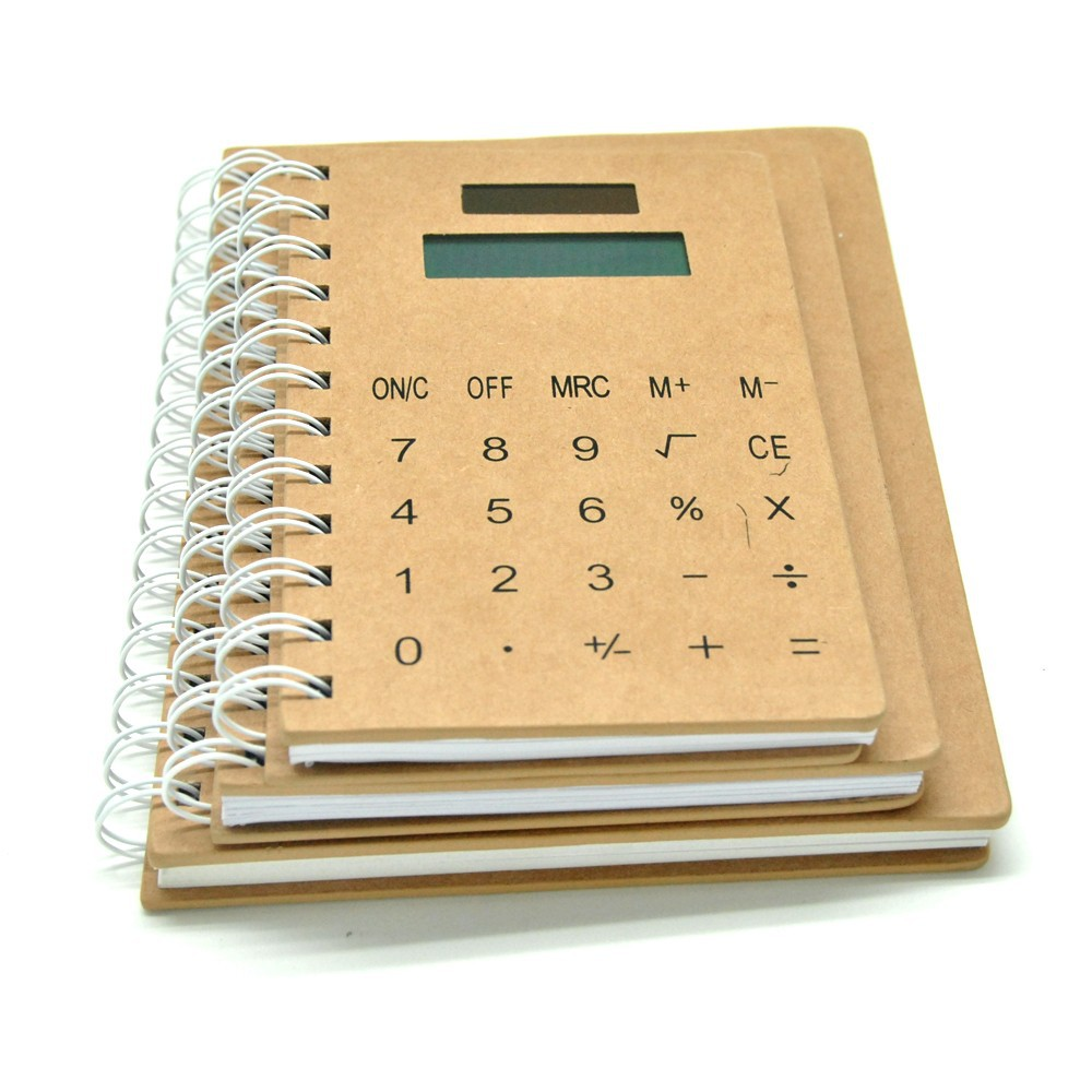 Spiral Leather Touch Screen Notebook Calculator