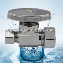 Brass Electroplating Chromium Mini brass right angle stop ball valve