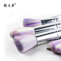 Colourful Head White Spiral Handle Makeup Brush