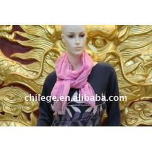 Cachemire uni en cachemire rose / écharpes en mélange modal
