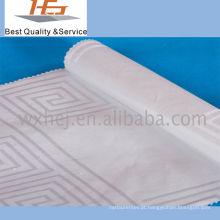 Tecido de algodão branco do poliéster da listra para a matéria têxtil home