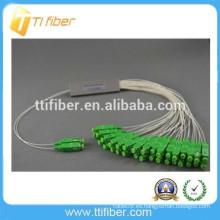 2 * 32 SC APC tubo de acero tipo PLC divisor de fibra óptica