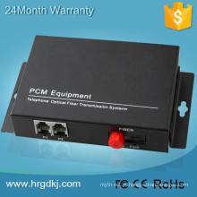 2 potes do canal (rj11) linha telefônica sobre o cabo do conversor da fibra ao conversor do telefone