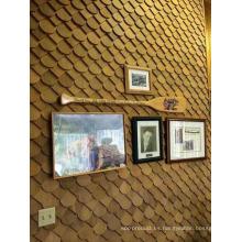 Tablero de pared de madera de cedro al por mayor de la fábrica como fondo