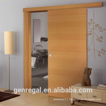 Natural interior solid wood single panel sliding door