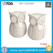 Cheap Animal Owl White Ceramic Spice Jar