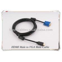 HDMI Male to VGA Male HD-15 Cable