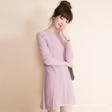 women pure cashmere pullovers sweater Winter Sweater Rabbit Wool Core Spun Yarn Length Bag Hip Dress cashmere sweater