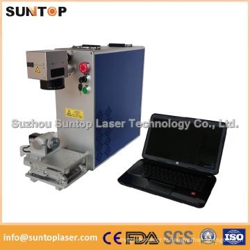 Marqueur laser en métal / Marqueur laser à petite fibre optique / Machine à marquer le laser au métal