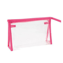 Zipper Cosmetic Bag Wholesale Clear Pvc Screen Printing Side Gusset Bag Customized Promotion Recyclable Zipper Top Accept Ouxun